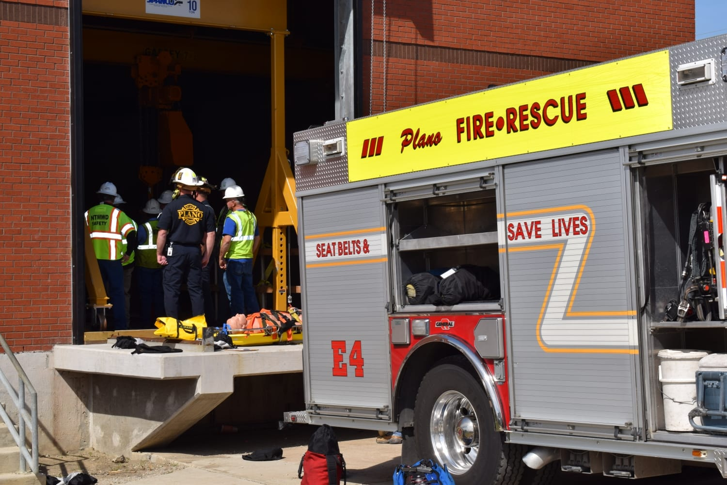 Confined Space Rescue Drill | Plano Fire Department | NTMWD