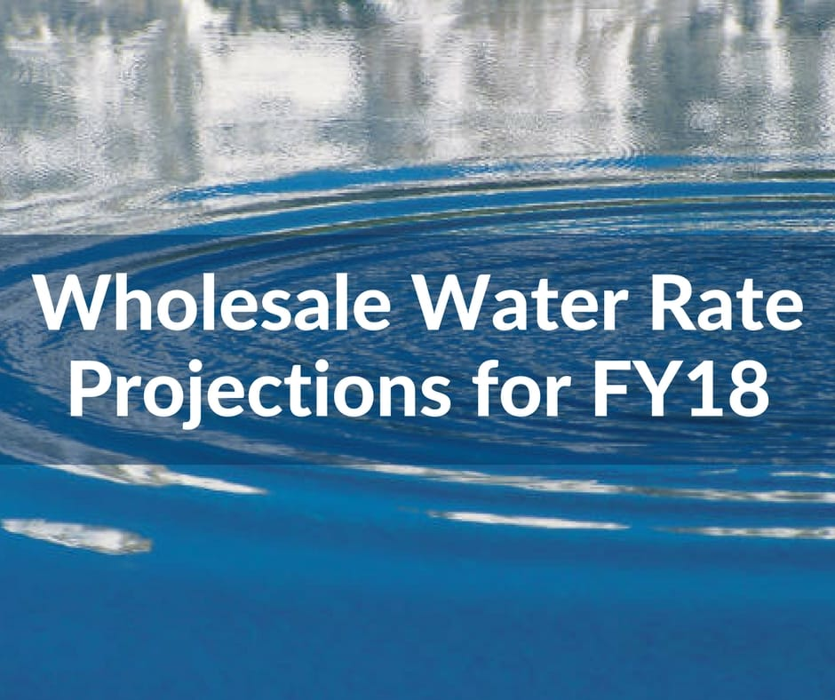wholesale water rate projections for FY18