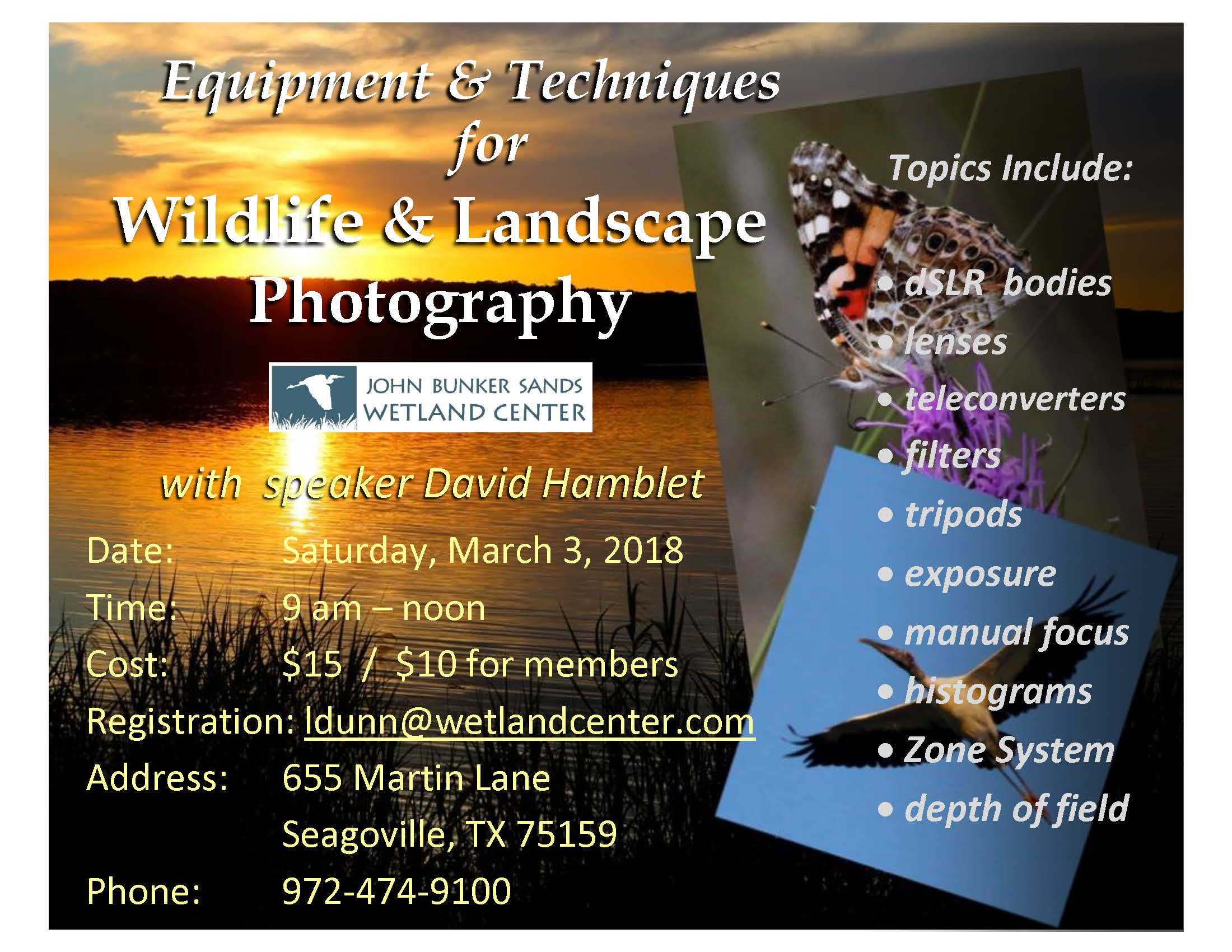 Equipment & Techniques for Wildlife & Landscape Photography