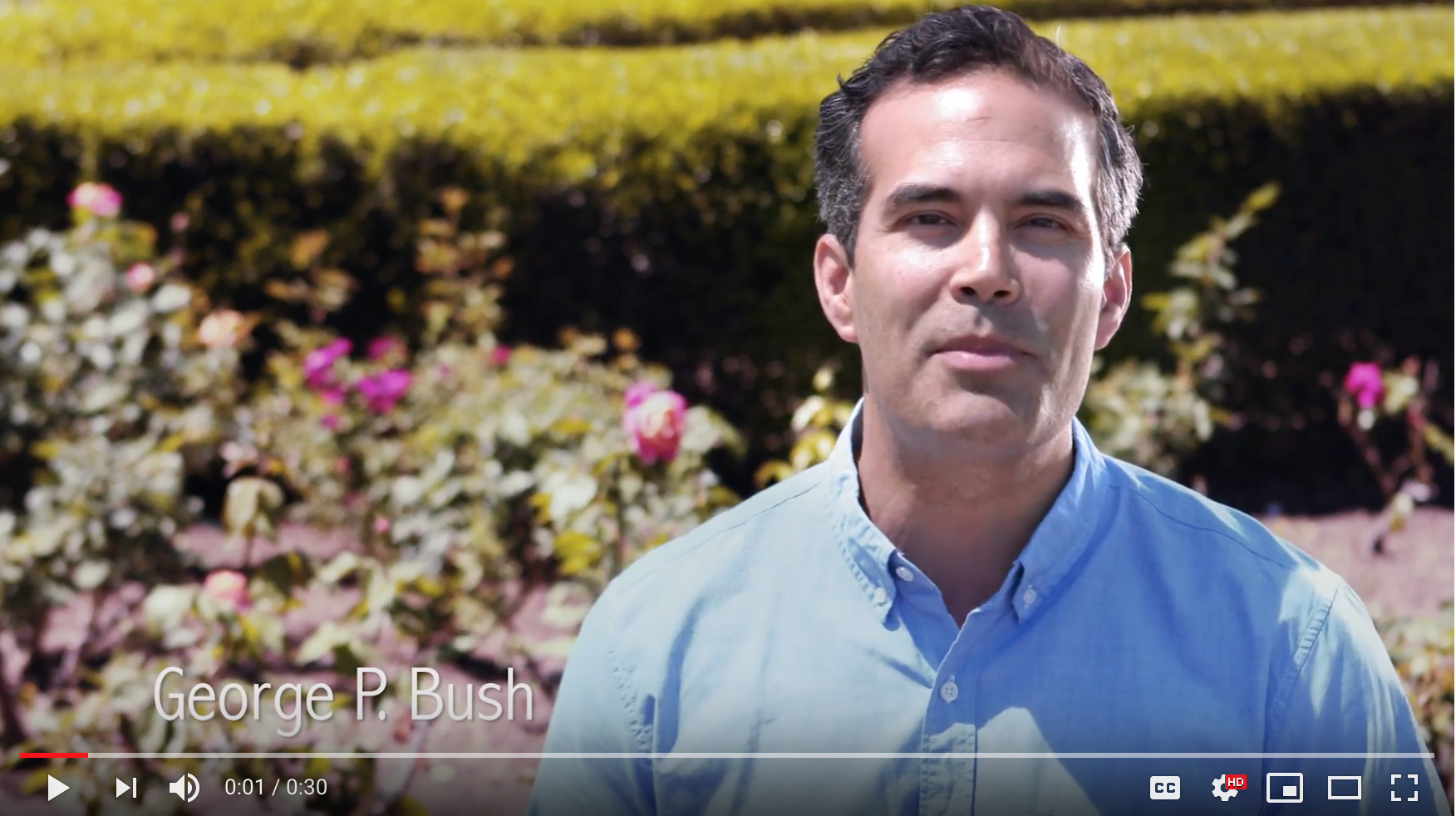 Geroge P. Bush pledges to plant smart