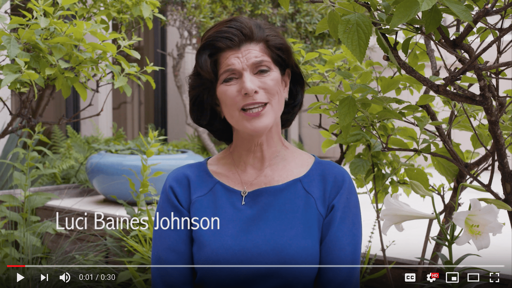 Luci Baines Johnson pledges to plant smart